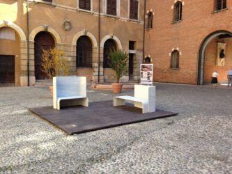 Marmomac & the City 2014, Cortile del Tribunale, Le Bla Bla di E.Larquetoux con Testi Group