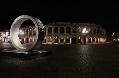 Marmomac & the City 2014, Piazza Bra, Stone Gate di R.Galiotto con Lithos Design