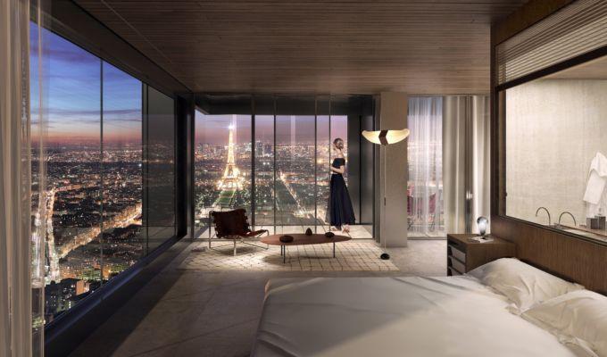 Vue d'une chambre de l'hôtel, crédit Nouvelle AOM