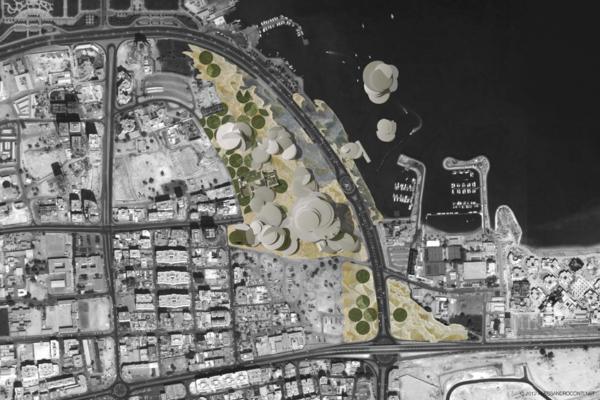 Planimetria del National Museum of Qatar a Doha, progetto di Jean Nouvel