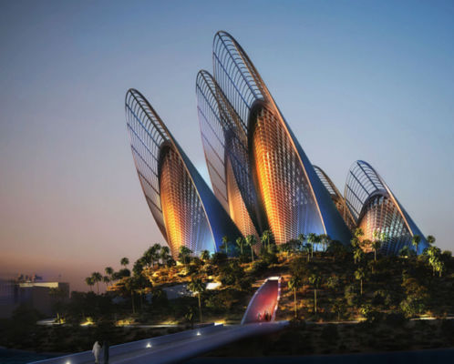 Sheikh Zayed National Museum nel polo del Saadiyat Cultural District, progetto di Norman Foster